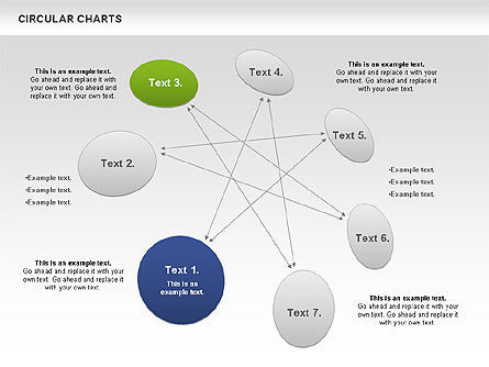 Circular Charts, Slide 2, 00803, Business Models — PoweredTemplate.com