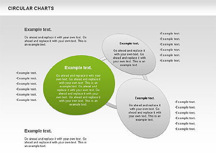 Circular Charts, Slide 3, 00803, Business Models — PoweredTemplate.com
