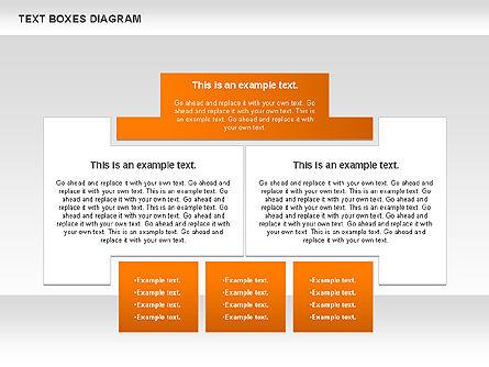 Text Boxes Process Collection, Slide 10, 00804, Text Boxes — PoweredTemplate.com