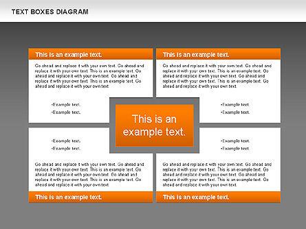 Text Boxes Process Collection, Slide 12, 00804, Text Boxes — PoweredTemplate.com