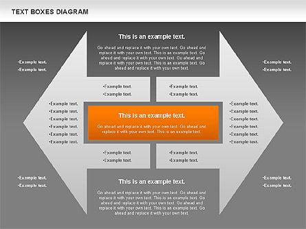 Text Boxes Process Collection, Slide 15, 00804, Text Boxes — PoweredTemplate.com