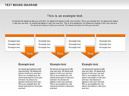 Text Boxes Process Collection, Slide 3, 00804, Text Boxes — PoweredTemplate.com