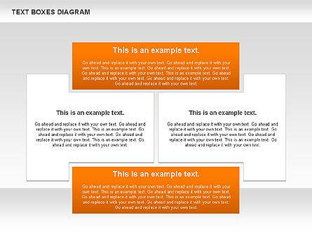 Text Boxes Process Collection, Slide 7, 00804, Text Boxes — PoweredTemplate.com