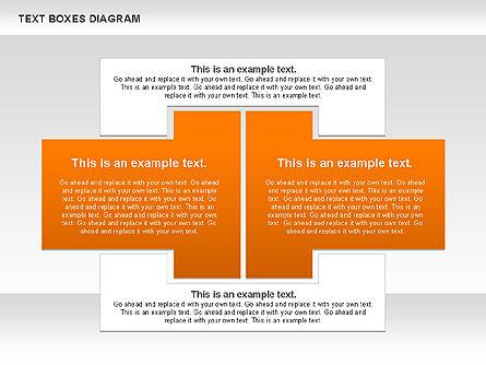 Text Boxes Process Collection, Slide 8, 00804, Text Boxes — PoweredTemplate.com