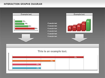 Interaction Graphs Diagram (Data Driven), Slide 12, 00806, Business Models — PoweredTemplate.com