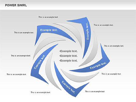 Power Swirl Chart, 00807, Business Models — PoweredTemplate.com