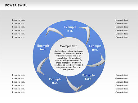 Power Swirl Chart, Slide 2, 00807, Business Models — PoweredTemplate.com
