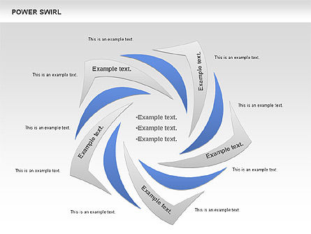Power Swirl Chart, Slide 4, 00807, Business Models — PoweredTemplate.com
