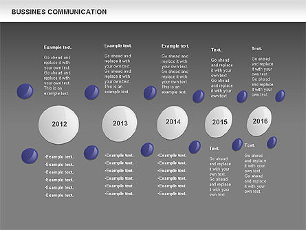 Creative Dotted Business Charts, Slide 13, 00808, Presentation Templates — PoweredTemplate.com