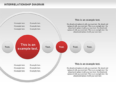 Interrelationship Diagram, 00809, Business Models — PoweredTemplate.com