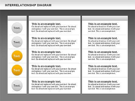 Interrelationship Diagram, Slide 13, 00809, Business Models — PoweredTemplate.com