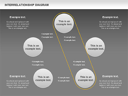 Interrelationship Diagram, Slide 14, 00809, Business Models — PoweredTemplate.com