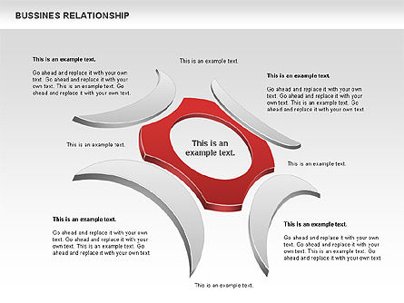 Business Relationship Shapes, 00810, Business Models — PoweredTemplate.com