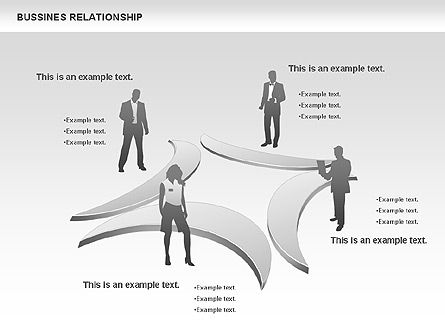 Business Relationship Shapes, Slide 11, 00810, Business Models — PoweredTemplate.com