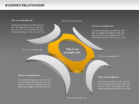 Business Relationship Shapes, Slide 12, 00810, Business Models — PoweredTemplate.com