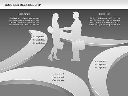 Business Relationship Shapes, Slide 13, 00810, Business Models — PoweredTemplate.com