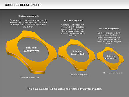 Business Relationship Shapes, Slide 14, 00810, Business Models — PoweredTemplate.com
