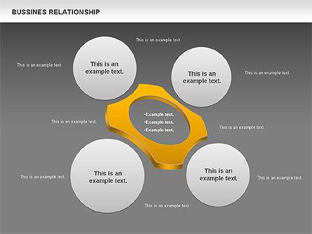 Business Relationship Shapes, Slide 16, 00810, Business Models — PoweredTemplate.com