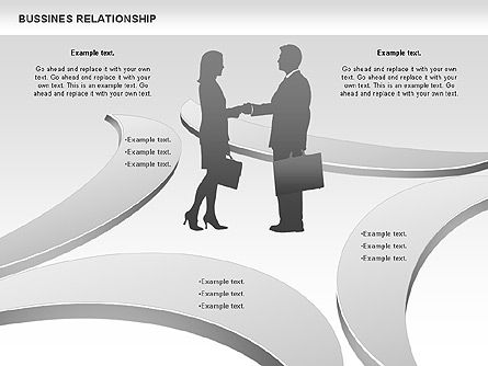 Business Relationship Shapes, Slide 2, 00810, Business Models — PoweredTemplate.com