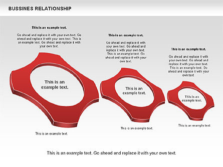 Business Relationship Shapes, Slide 3, 00810, Business Models — PoweredTemplate.com