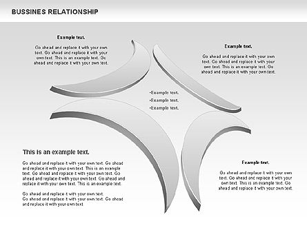 Business Relationship Shapes, Slide 4, 00810, Business Models — PoweredTemplate.com