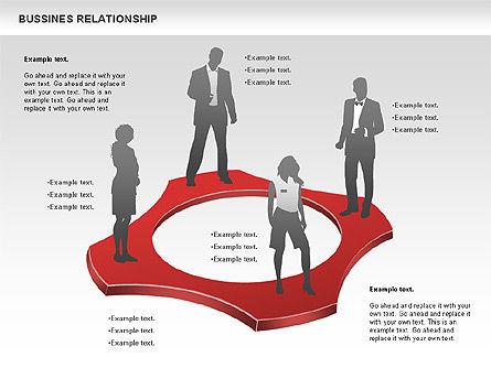 Business Relationship Shapes, Slide 5, 00810, Business Models — PoweredTemplate.com