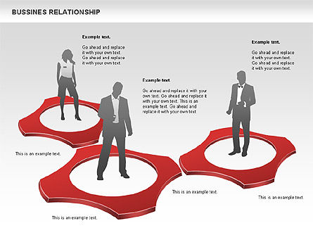 Business Relationship Shapes, Slide 8, 00810, Business Models — PoweredTemplate.com