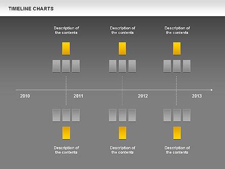 Dotted Timeline Chart, Slide 12, 00812, Timelines & Calendars — PoweredTemplate.com