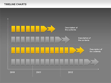 Dotted Timeline Chart, Slide 13, 00812, Timelines & Calendars — PoweredTemplate.com