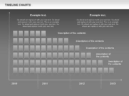 Dotted Timeline Chart, Slide 14, 00812, Timelines & Calendars — PoweredTemplate.com