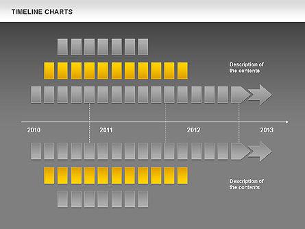 Dotted Timeline Chart, Slide 16, 00812, Timelines & Calendars — PoweredTemplate.com