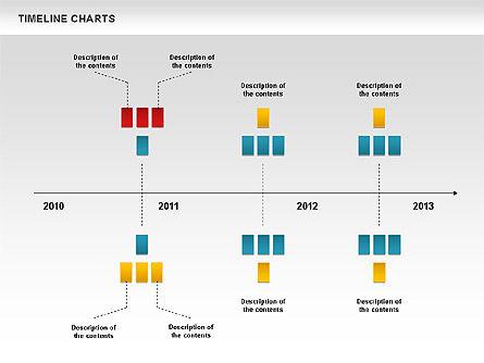 Dotted Timeline Chart, Slide 5, 00812, Timelines & Calendars — PoweredTemplate.com