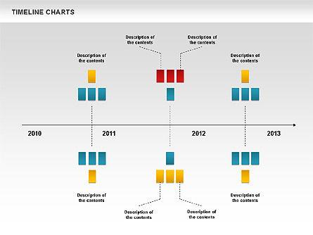 Dotted Timeline Chart, Slide 6, 00812, Timelines & Calendars — PoweredTemplate.com