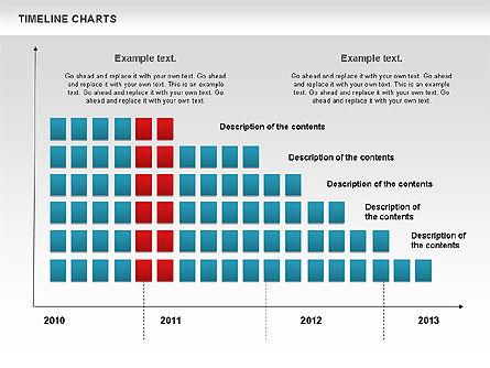 Dotted Timeline Chart, Slide 8, 00812, Timelines & Calendars — PoweredTemplate.com