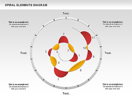 Spiral Elements Diagram, 00815, Stage Diagrams — PoweredTemplate.com