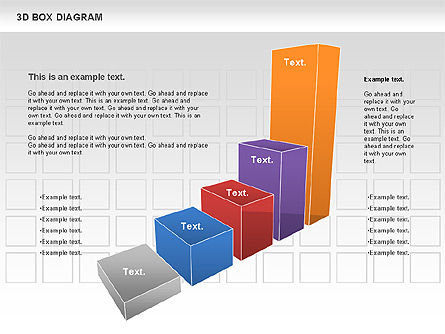 Business Models: 3D-Box-Diagramm #00816