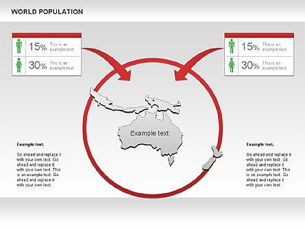 World Economy Diagram, Slide 5, 00820, Business Models — PoweredTemplate.com