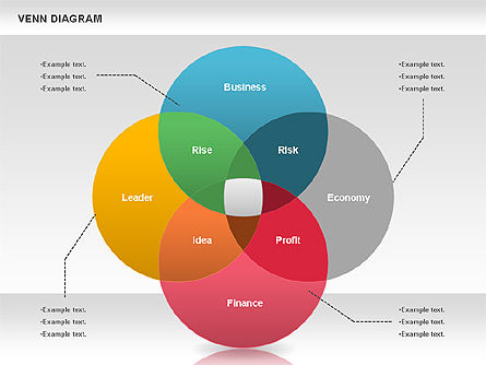 Business Models: Colorful Venn Diagram #00822
