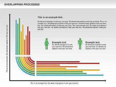 Overlapping Processes Diagram, Slide 10, 00824, Process Diagrams — PoweredTemplate.com