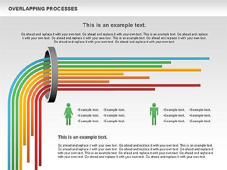 Overlapping Processes Diagram, Slide 11, 00824, Process Diagrams — PoweredTemplate.com