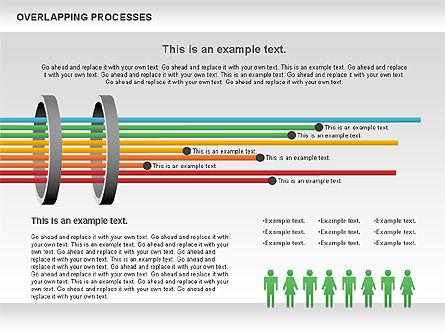 Overlapping Processes Diagram, Slide 12, 00824, Process Diagrams — PoweredTemplate.com