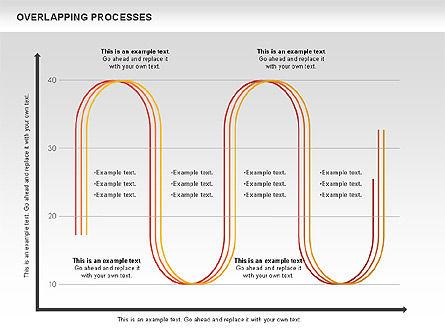 Overlapping Processes Diagram, Slide 13, 00824, Process Diagrams — PoweredTemplate.com