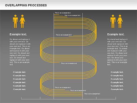 Overlapping Processes Diagram, Slide 14, 00824, Process Diagrams — PoweredTemplate.com