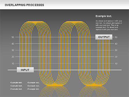 Overlapping Processes Diagram, Slide 16, 00824, Process Diagrams — PoweredTemplate.com