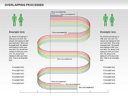Overlapping Processes Diagram, Slide 2, 00824, Process Diagrams — PoweredTemplate.com