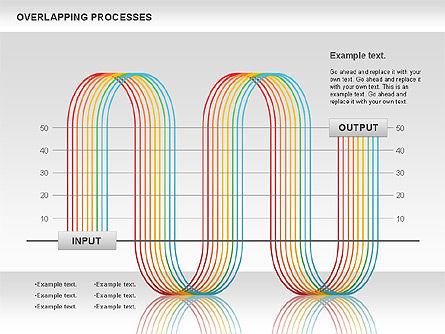 Overlapping Processes Diagram, Slide 4, 00824, Process Diagrams — PoweredTemplate.com
