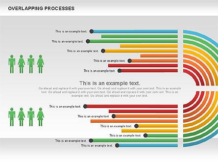 Overlapping Processes Diagram, Slide 5, 00824, Process Diagrams — PoweredTemplate.com