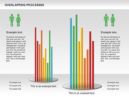 Overlapping Processes Diagram, Slide 6, 00824, Process Diagrams — PoweredTemplate.com