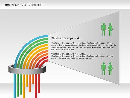 Overlapping Processes Diagram, Slide 9, 00824, Process Diagrams — PoweredTemplate.com