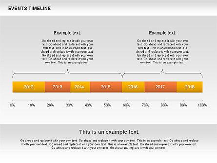 Events Timeline Diagram, Slide 2, 00825, Timelines & Calendars — PoweredTemplate.com